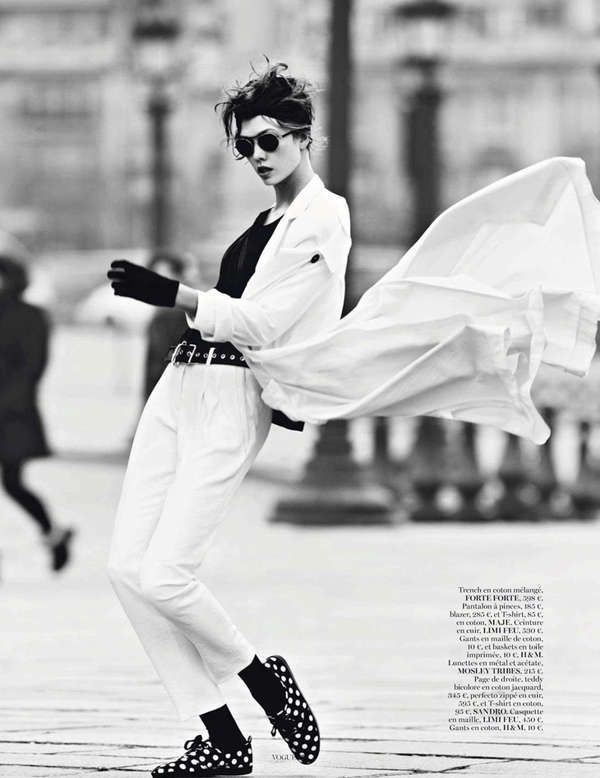 Parisian Tomboy Editorials - The Miss Vogue: Street Dance Photoshoot is Effortlessly Elegant (GALLERY)