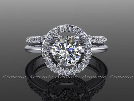 Halo Ring Guard Enhancer Wedding Natural Diamonds Solitaire 14k White Gold In 2018 Products I Love Pinterest