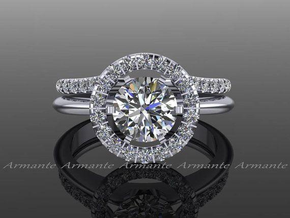 Halo Ring Guard Ring Enhancer Wedding Ring Enhancer Natural Diamonds Solitaire Enhancer