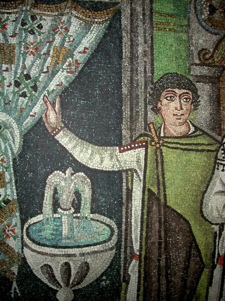 Ravenna mosaic - curtain and garb