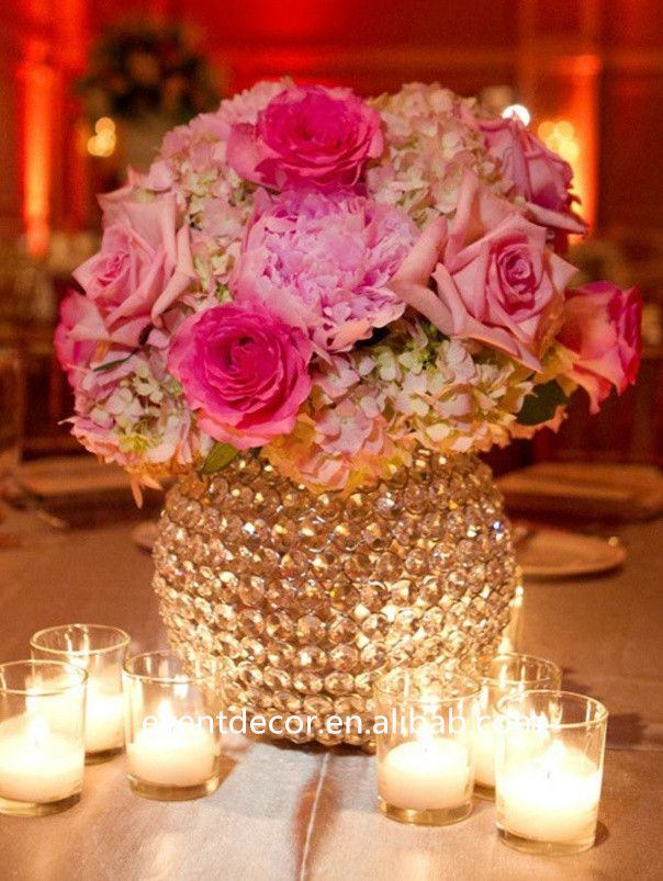 Best crystal beaded centerpieces images on pinterest