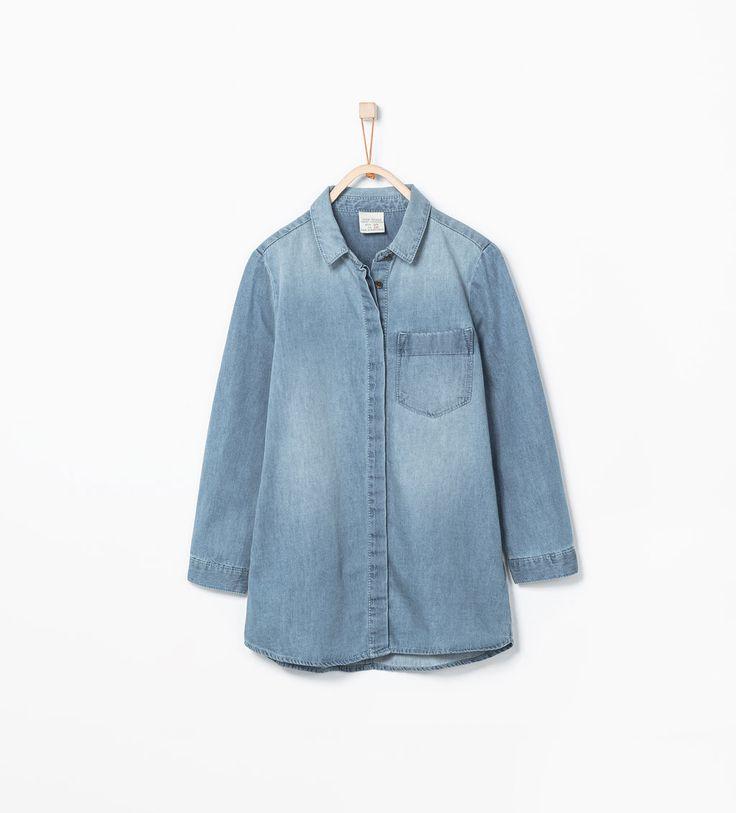 ZARA - KIDS - Denim shirt dress - Denim Post