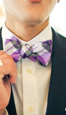 Plaid bow tie....so dapper southern gent.