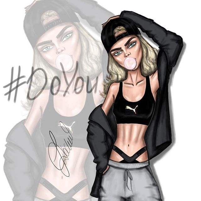 Cara Delevingne is fierce #DoYou @caradelevingne @puma #Ldochev #fashion #illustration #CaraDelevingne #Puma Hope you like it!