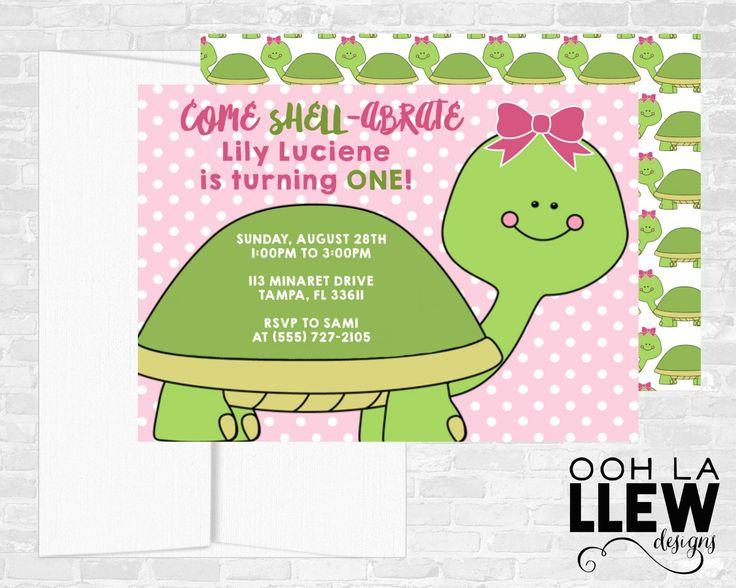 Turtle Invitation Birthday Invitations Invites Theme