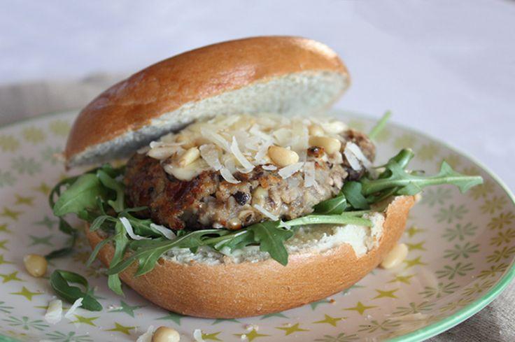 Paddoburger #bagel #veggie #burger #mushroom