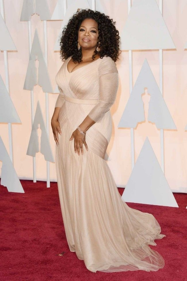 87th Academy Awards: Oscars 2015 red carpet : Oprah Winfrey in Vera Wang