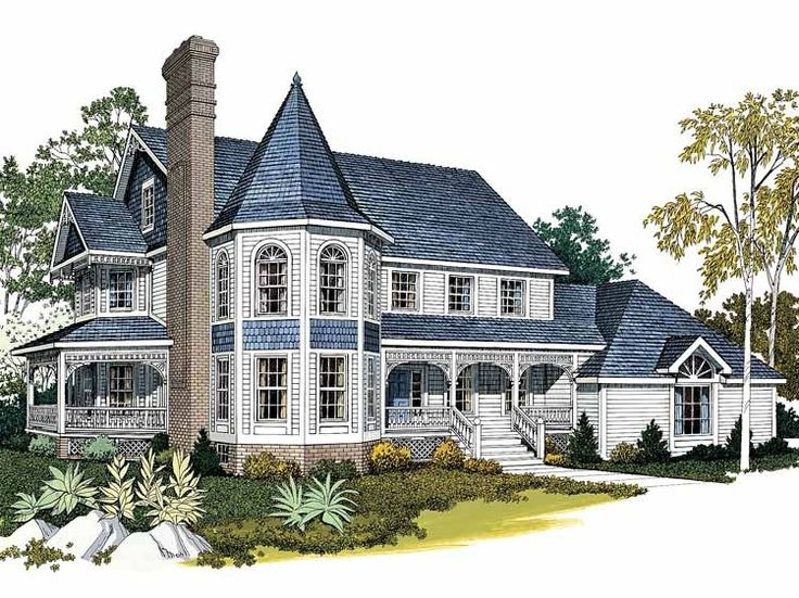 Queen Anne House Plan with 3410 Square Feet and 4 Bedrooms from ...