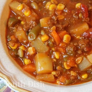 Ground Beef Hobo Stew recipe -- I made this soup and it is really good; adding it to my #soup recipes.