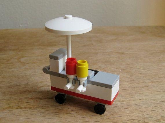 So charming! - LEGO custom kit Hot Dog Stand by GuyTheFly on Etsy, $12.99