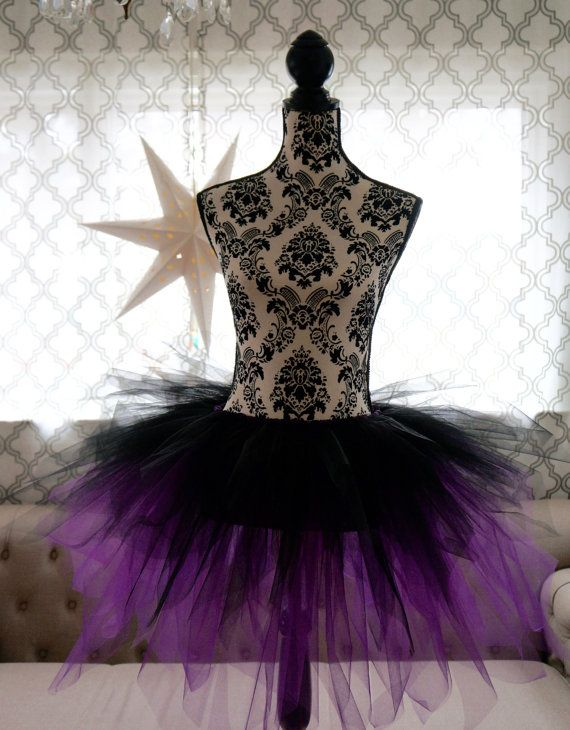 Ursulaesque Adult Tutu  Black and Purple Tutu  by TutuSister