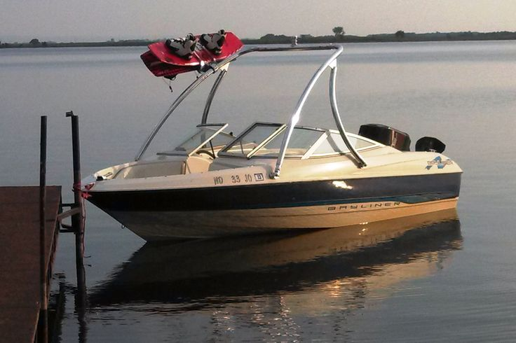 1995 Bayliner 1700 LS Capri with a Big Air Ice tower // universal wakeboard tower // Bayliner Boats //  boat tower // universal wakeboard tower // wakeboard towers for sale // boat wakeboard tower // boat towers for sale // cheap wakeboard tower // folding wakeboard tower // collapsible wakeboard tower // aluminum wakeboard tower //