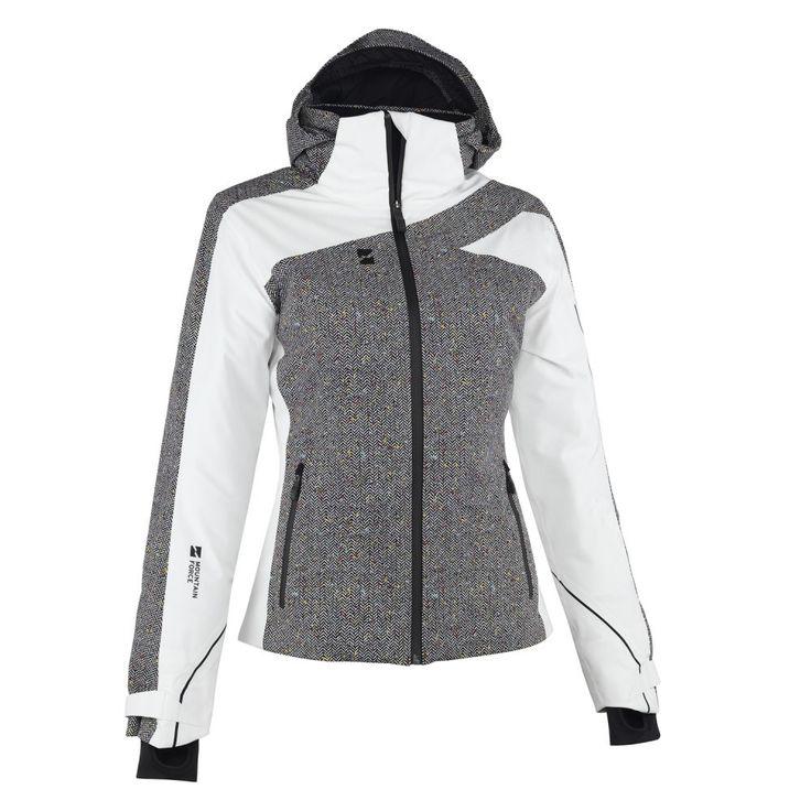Mountain Force Traverse Insulated Ski Jacket (Women's) - Cloud White/Herringbone/Black