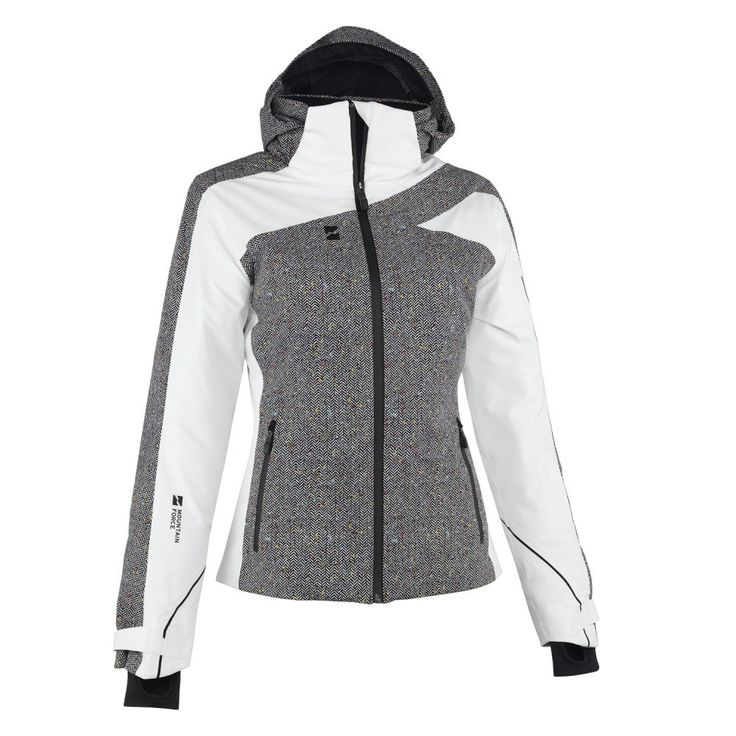 Mountain Force Traverse Insulated Ski Jacket (Women's) - Cloud White/Herringbone/Black