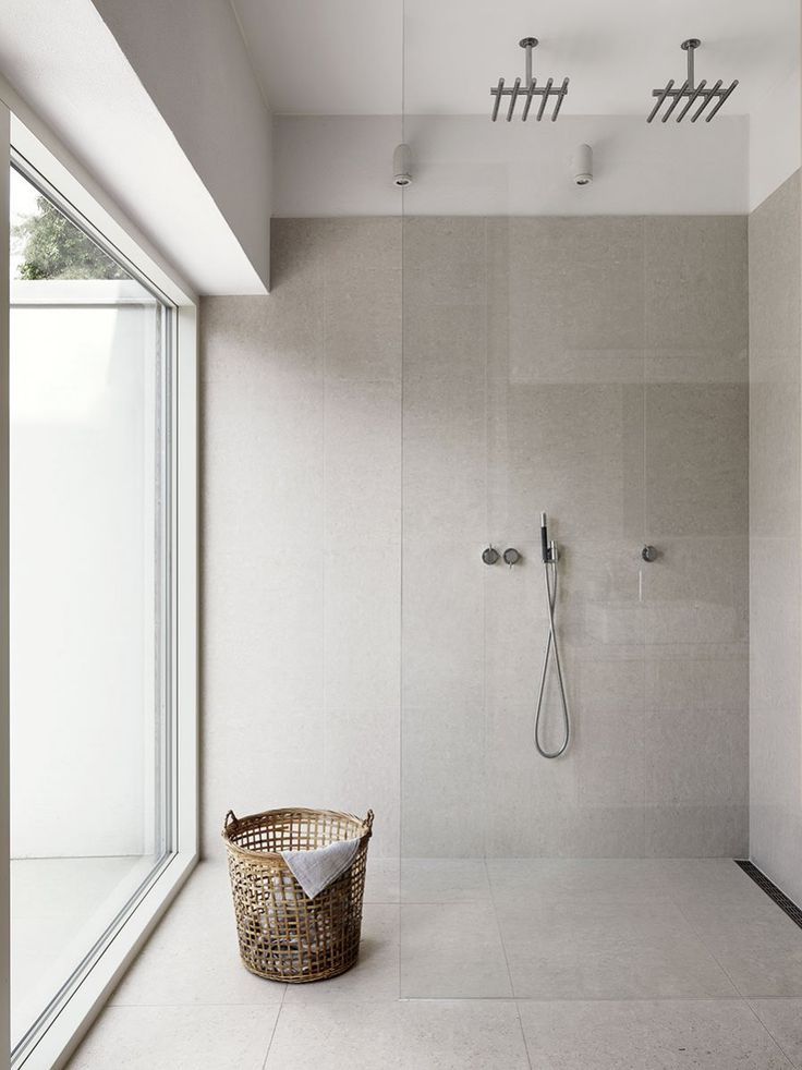 Walk-in shower. Home in Höllviken by Hanne Birk
