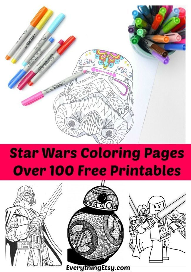 Star Wars Free Printable Coloring Pages for Adults & Kids {Over 100 Designs!}
