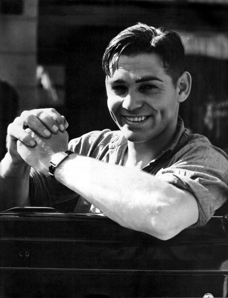Clark Gable, love his smile & dimples.