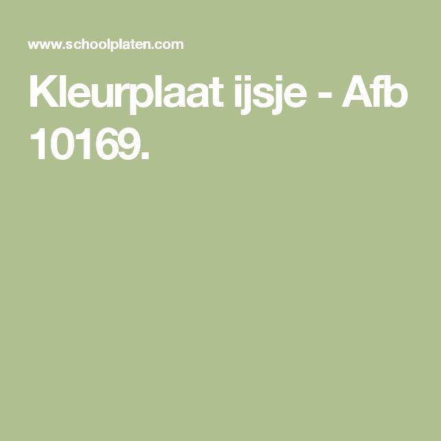 Kleurplaat ijsje - Afb 10169.