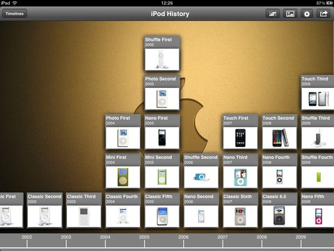 Timeline Maker - a great iPad app for creating timelines.