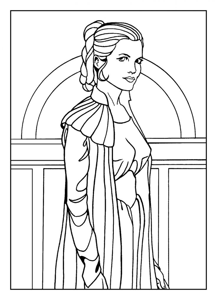 star wars coloring pages leia - photo#6