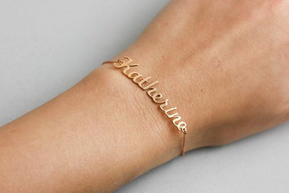 Name Bracelet, Silver Personalized Bracelet, Custom Name  Jewelry, Personalized Gift for New Mom, Present for Her, Rose Gold Custom, SB0181