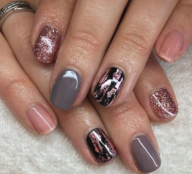 15 amazing foil nails for long and short manicures ...