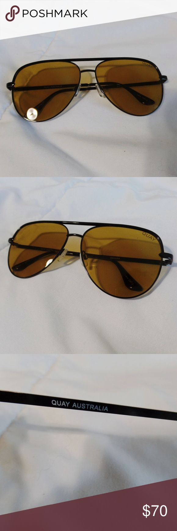 Original Quay Australia Olive Sahara sunglasses 🌷Excellent Condition/No visible scratches 🌷This is the Original Sahara, which is different from the recent, second release.The design of the original are slightly different (and I personally think is better) from the recently released ones. Quay Australia Accessories Sunglasses