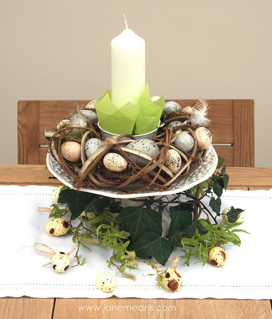 Rustic Easter Table Decoration