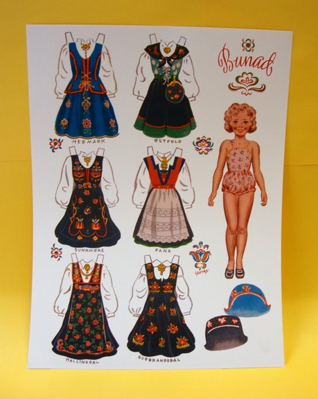 Norwegian Bunad Paper Doll (2) - Scandinavian Gifs from Scandinavian Specialties