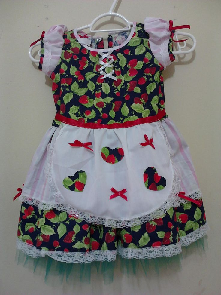 Vestido infantil p/ dança folclorica
