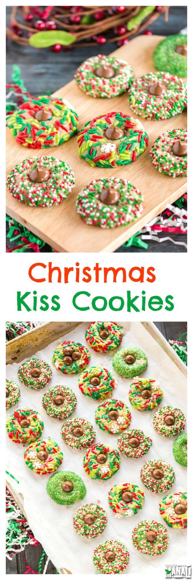 Christmas Kiss Cookies (christmas cookies sugar)