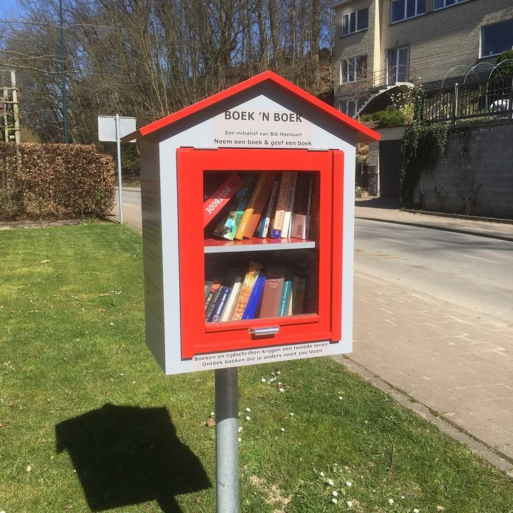 Hoeilaart - Boek 'n Boek (Boekenruilkast) Steenbergstraat - W. Degreefstraat