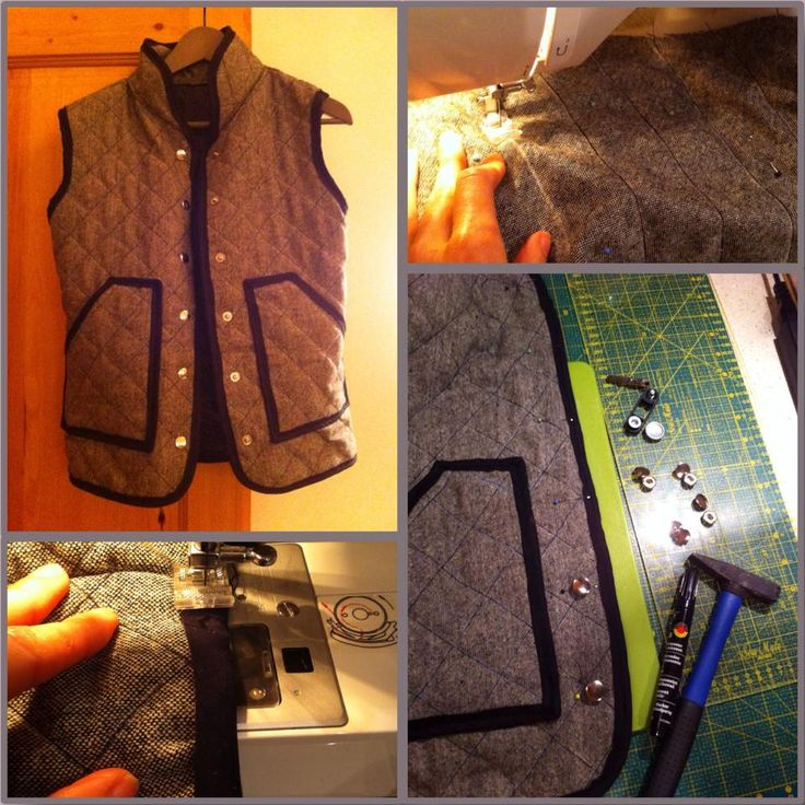 DIY quilted vest .. made by me.. for myself :D I love it. :)
