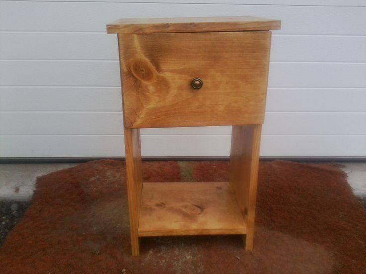 Pine Nightstand One Drawer Handmade by IronIkesCarpentry on Etsy, $40.00