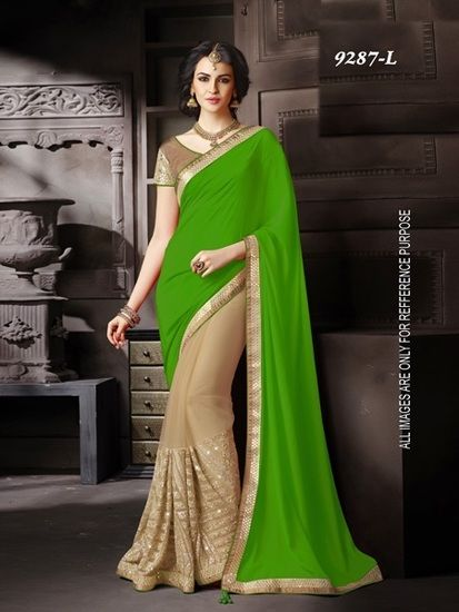 Buy embroidery work sarees Online India - 2977464