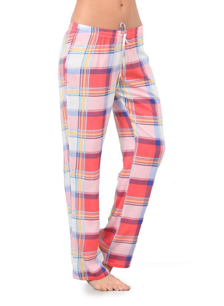 Pantalon Pijama Cuadros Rosado Pantalones De Pijama Moda Para Mujer Moda