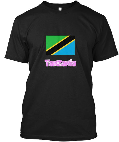 Tanzania Flag Pink Flower Design Black T-Shirt Front - This is the perfect gift for someone who loves Tanzania. Thank you for visiting my page (Related terms: I Heart Tanzania,Tanzania,Tanzanian,Tanzania Travel,I Love My Country,Tanzania Flag, Tanzania Map,Ta #Tanzania, #Tanzaniashirts...)