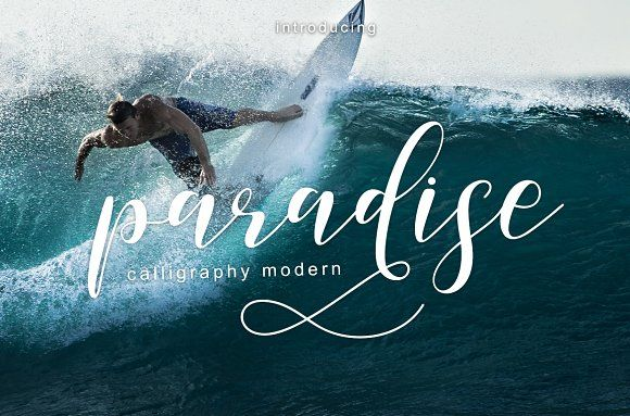 paradise calligraphy modern + Bonus by Teweka on @creativemarket