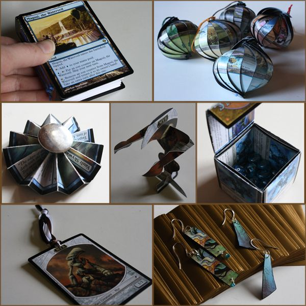7 craftsy things to do with Magic cards