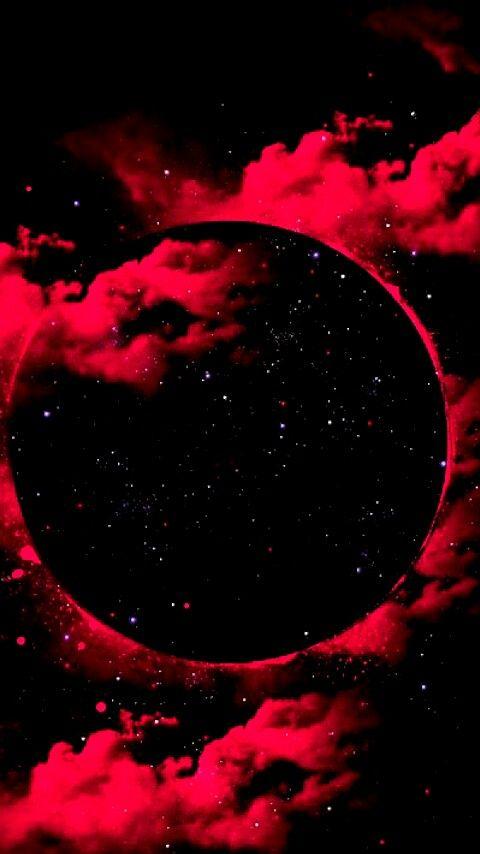 Eclipse de Sangre. | Fondos en 2019 | Red, black wallpaper ...