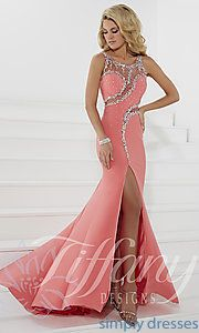 Buy Sleeveless Sheer Back Prom Dress by Tiffany at SimplyDresses