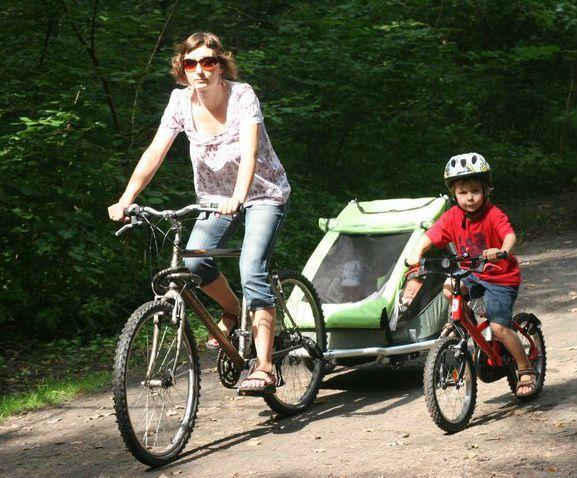 Croozer Kid for 2 to pierwsza markowa przyczepka rowerowa, z którą mieliśmy do czynienia. Stąd nasze doświadczenia opisane w tym teście są najbogatsze. #przyczepkarowerowa; #croozer