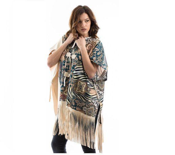Poncho made of Alcantara fabric alcantara poncho by madecoutureeu