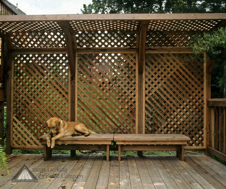 Picture of deck privacy screen. For back patio. Nice Neighbor just added windows staring onto our deck ;0)