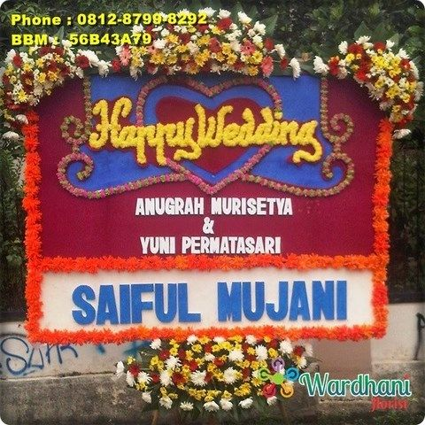 Bunga Papan Happy Wedding HW778WF