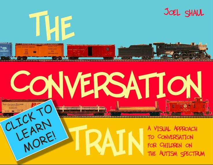 The Conversation Train - Useful resource website with free downloads available that can be used with school-aged children on the spectrum.