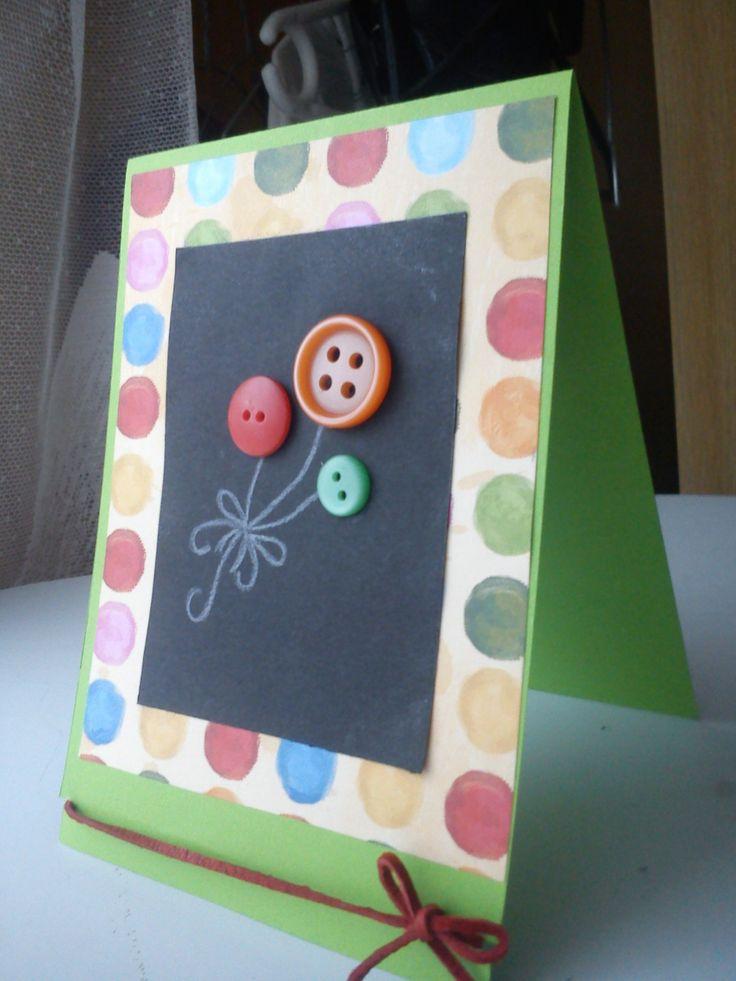 button ballons card