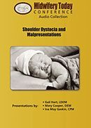 Shoulder Dystocia and Malpresentations (4-CD Audio Set) with Gail Hart, Mary Cooper and Ina May Gaskin.  Learn about shoulder dystocia from the combined wisdom and unique experiences of three experienced midwives.