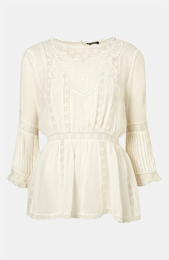 Topshop 'Valencia' Vintage Lace Tunic #Nordstrom #britishstyle: Lace Tunic