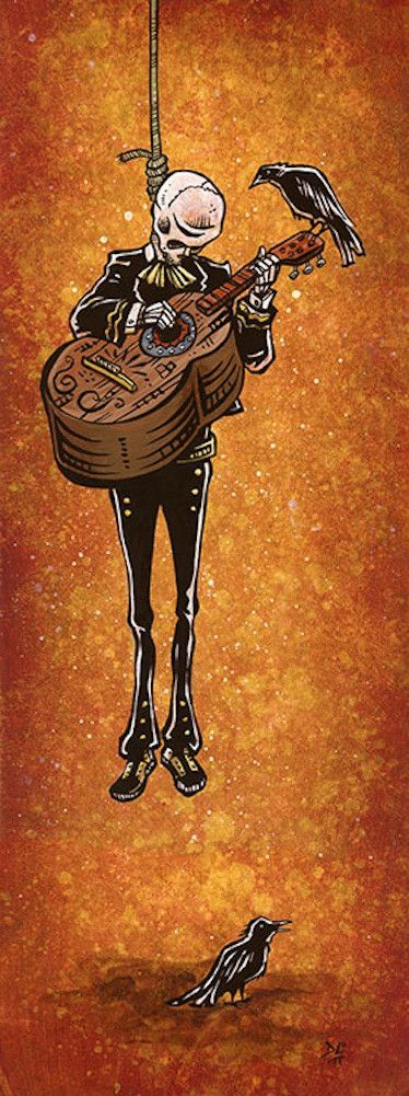 Title: One More Song Artist: David Lozeau The lone mariachi plays one more song before taking his final bow. Made-to-order giclee fine art reproductions on canvas featuring the original artwork of tod